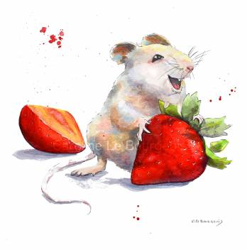 mouse-and-Strawbery