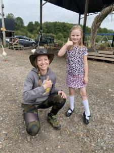 Caroline-with-Ruby-on-a-farm-tour-experience-at-Caenhill-Countryside-Centre