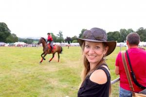 Caroline-at-Bowood-Country-fair-with-the-horses