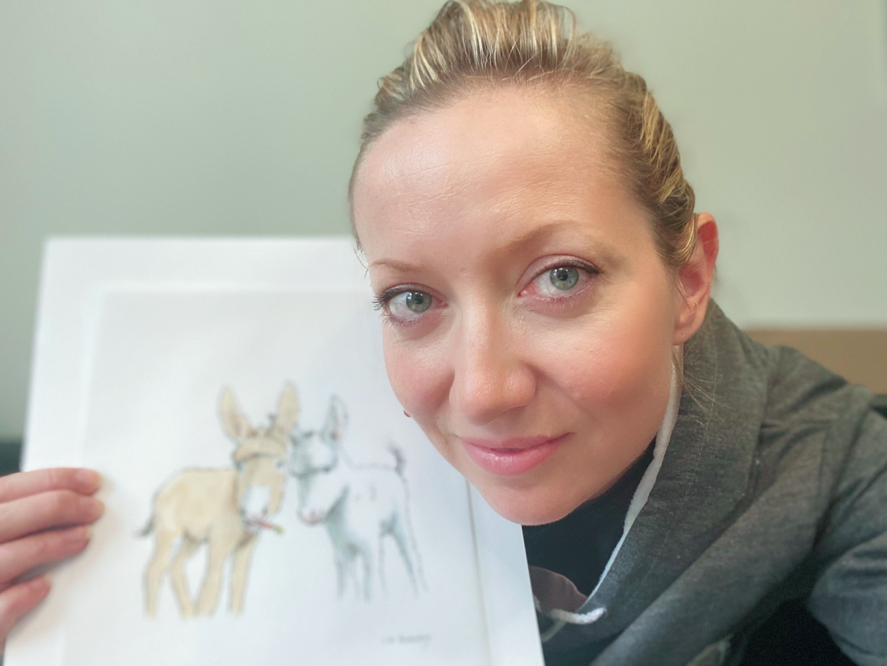 EXCLUSIVE! Baby Donkeys Coco and Eli illustration video